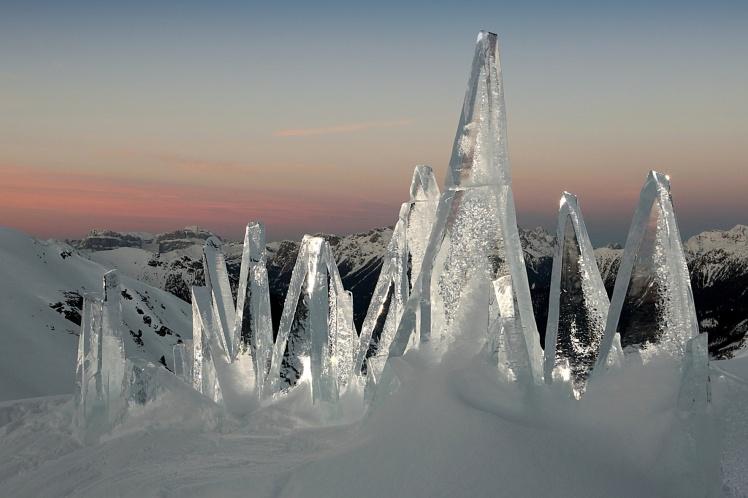 ICE SKYLINE DOLOMITI by Marco Nones - photo Eigenio Del Pero