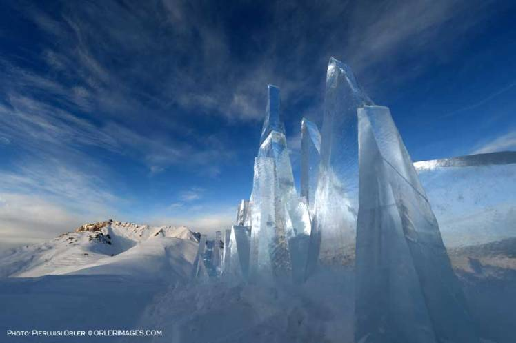 Photo Pierluigi Orler - Ice Skyline art installation by Marco Nones - Dolomiti Unesco RespirArt Pampeago