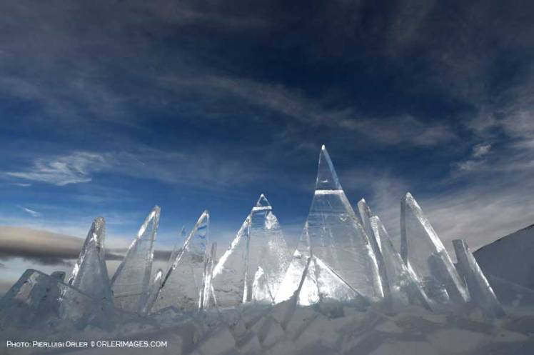 Ice Skyline, art installation by Marco Nones - photo Pierluigi Orler - Dolomiti Unesco RespirArt Pampeago