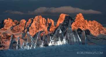 Ice Sky Line Dolomiti Unesco Trentino photo Pierluigi Orler - art installation Marco Nones