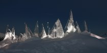 night ICE SKYLINE DOLOMITI by Marco Nones - photo Eugenio Del Pero