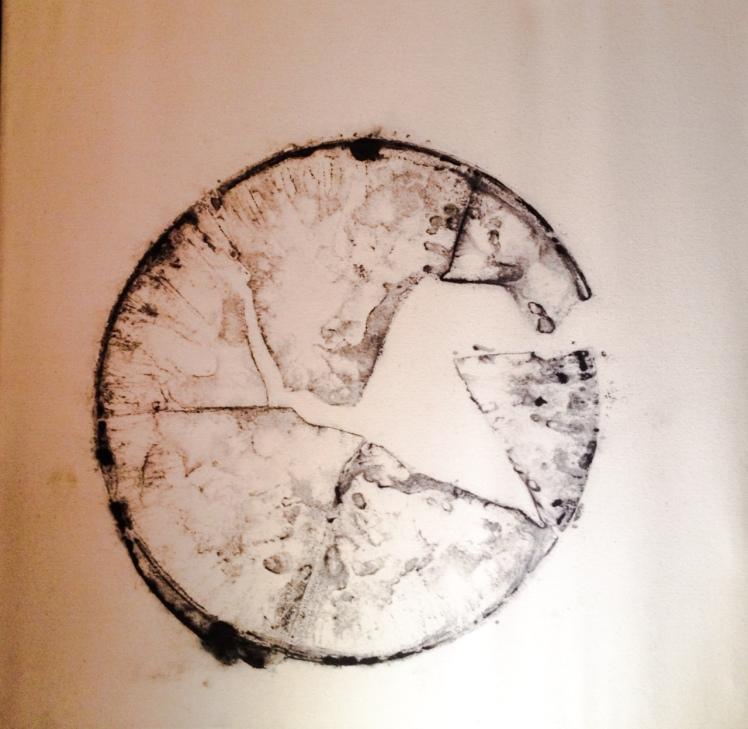 ICE PAINTING 2014 di Marco Nones - ghiaccio e nero di vite su tela