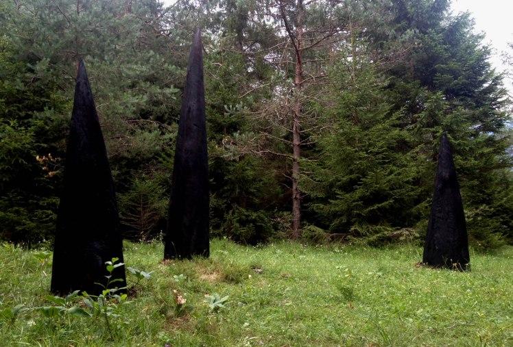 coni d'ombra val di Ledro by Marco Nones installazione arte